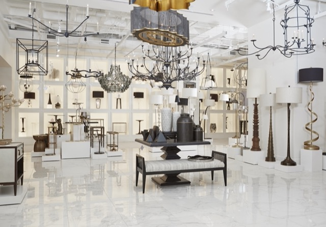The new Currey & Company Atlanta showroom.