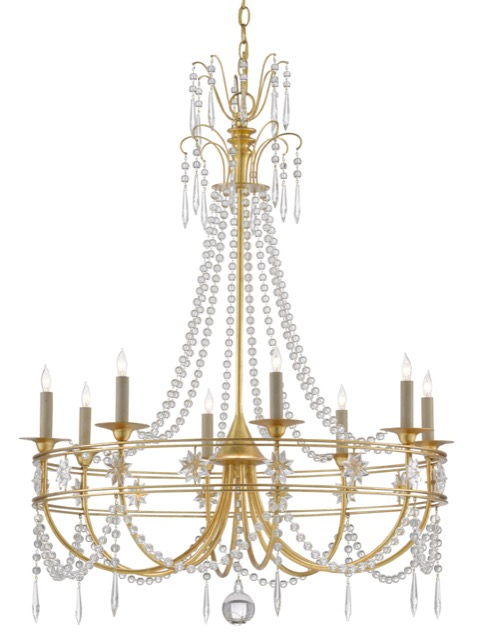 The Dream-Maker Chandelier by Currey & Company is a formal chandelier