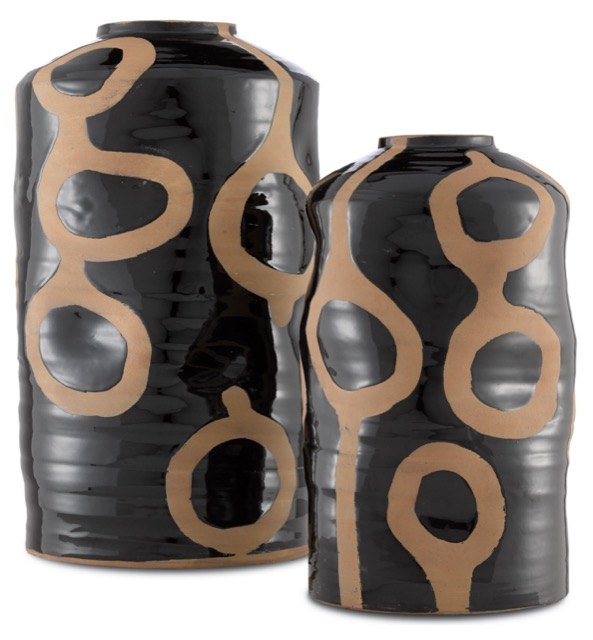 The Riku Vases by Currey & Company