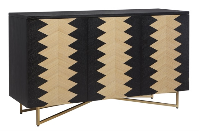 A bestseller during High Point Market was the Arrow Credenza by Currey & Company