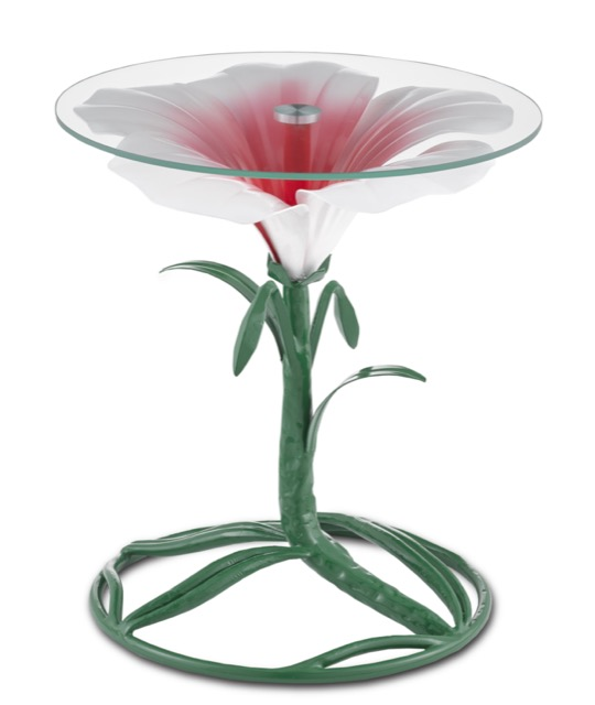 The Hibiscus Accent Table by Sasha Bikoff.