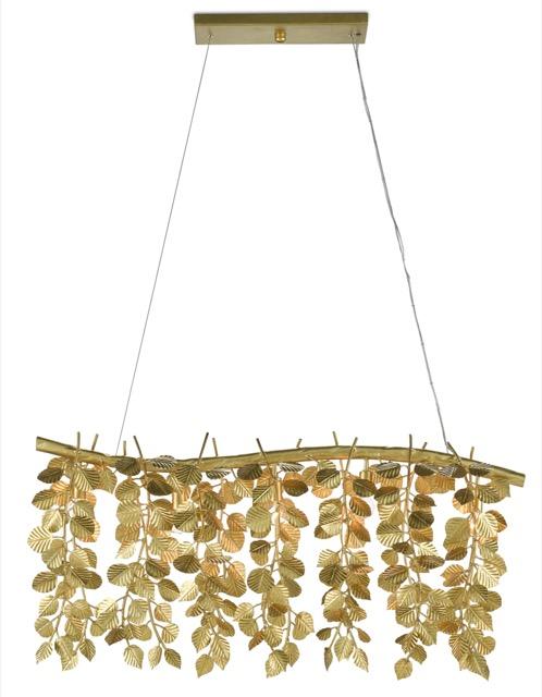 The Currey & Company Golden Eucalyptus Rectangular