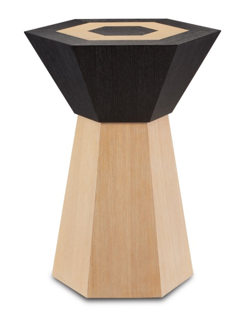 The Arrow Accent Table by Currey & Company was designed by Jamie Beckwith