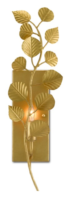 The Golden Eucalyptus Wall Sconce by Currey & Company