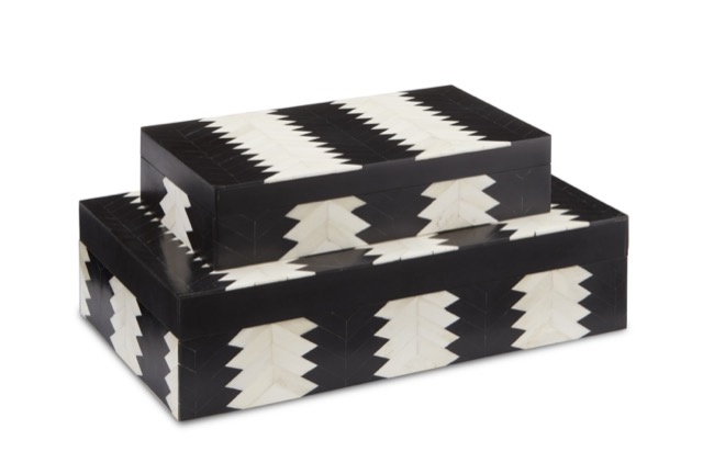 Designed by Jamie Beckwith is the Currey & Company Arrow Box Set