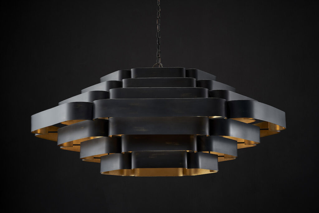 The Bailey Chandelier by Bunny Williams is new this summer