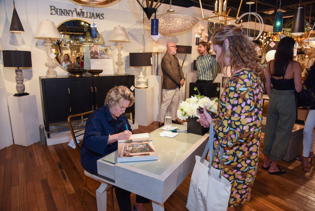 Bunny Williams signing her latest book in our New York Showroom during WNWN in 2019.