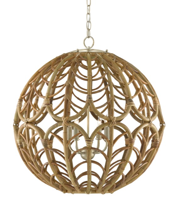 The Currey & Company Cape Verde Orb Chandelier was released in Spring 2021