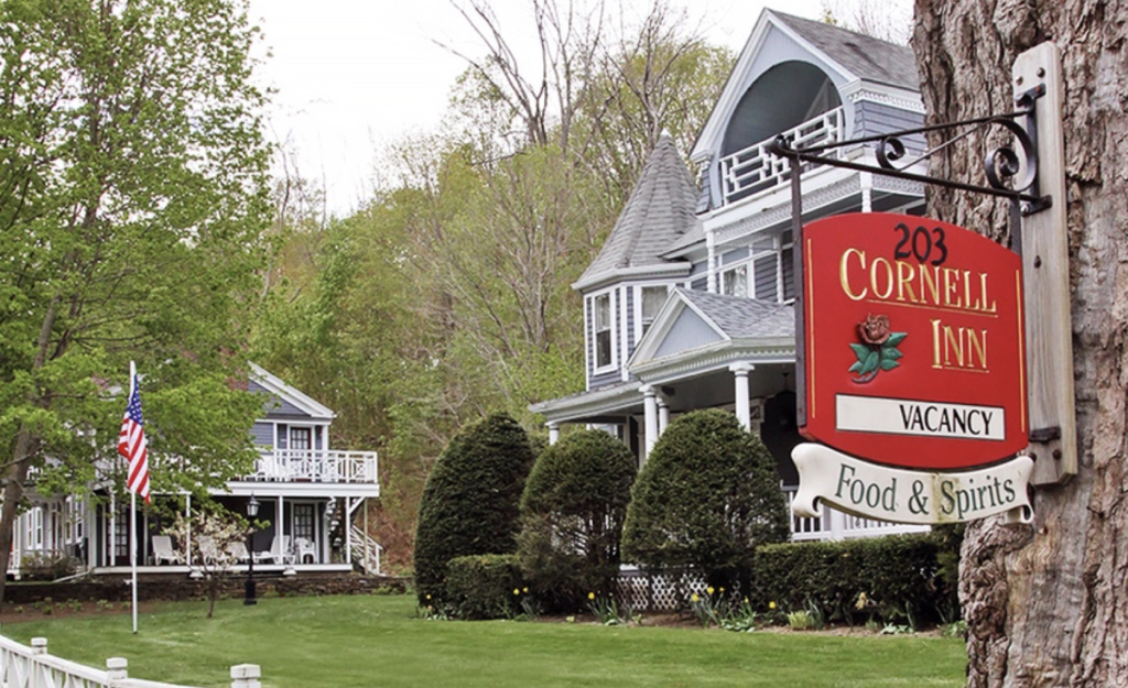 The Main House of the Cornell Inn, circa 1888, is the original inn—it is one of two buildings The Kaleidoscope Project transformed.