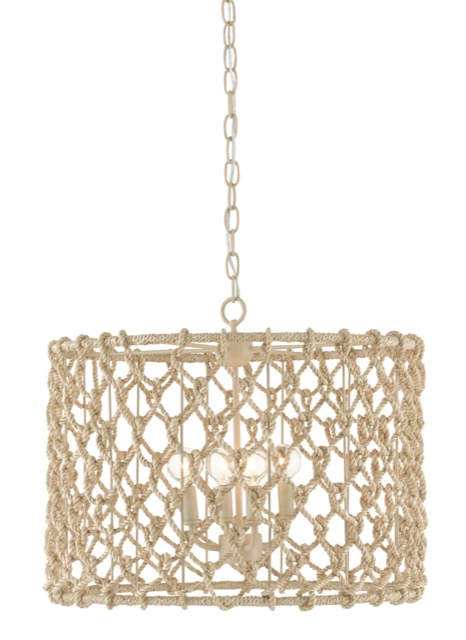 New and a bestseller during High Point Market was the Chesapeake Drum Chandelier by Currey & Company