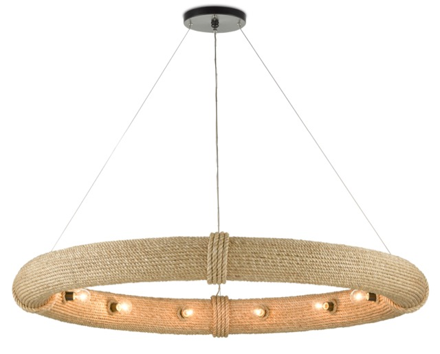 Currey & Company's Portmeirion Large is made of rope, a category in our product developement.