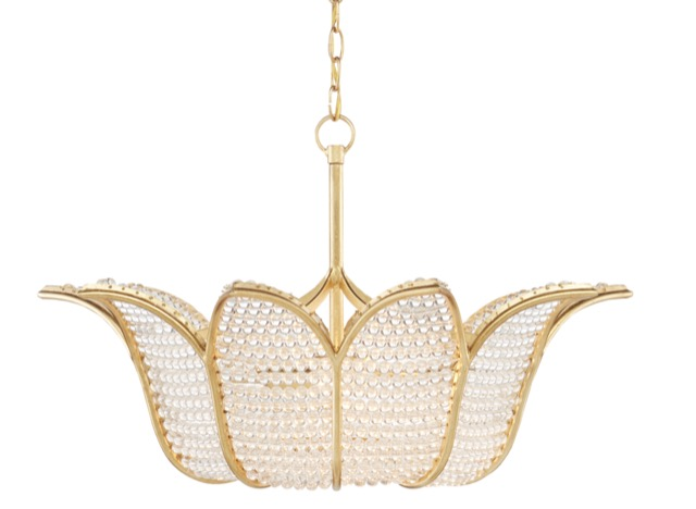 The Currey & Company Bebe Chandelier was designed by Bunny Williams