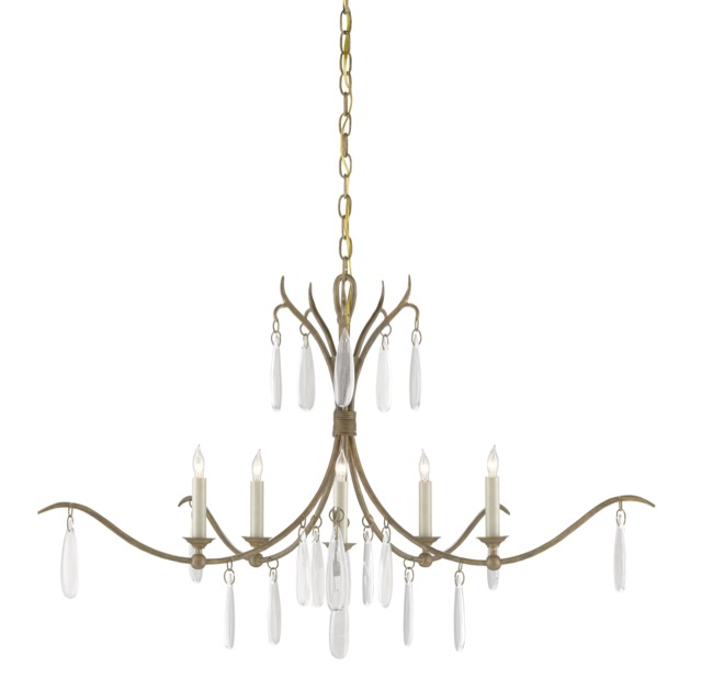 A bestseller during High Point Market was the Marshalia Chandelier by Currey & Company