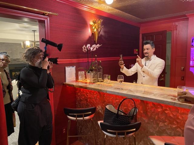 David Santiago in the bar he designed. Image courtesy Jane Dagmi and Designers Today.