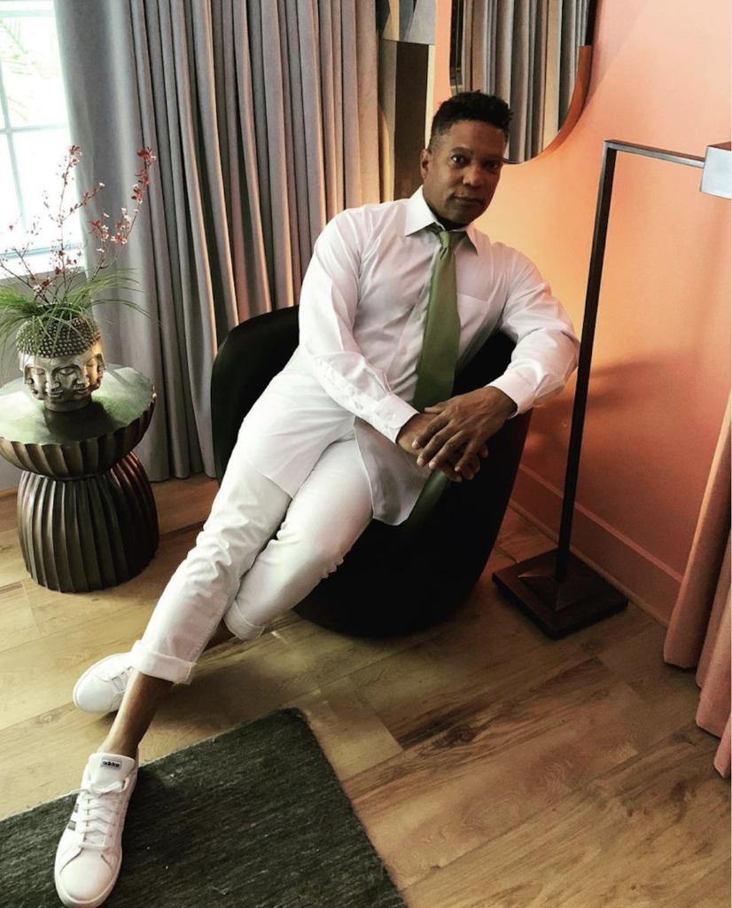 Rio Hamilton in the Teddy Room. Image courtesy Rio Hamilton on Instagram.