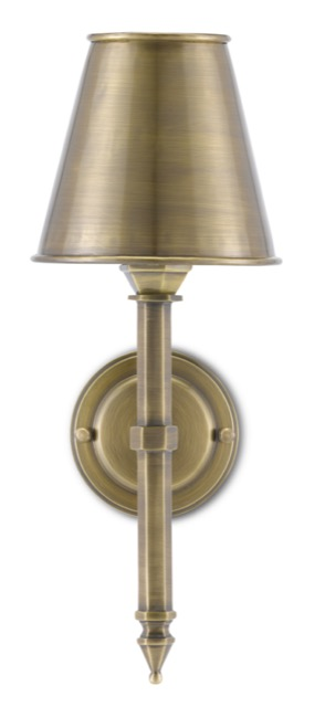 The Currey & Company Wollaton Wall Sconce was designed by Bunny Williams