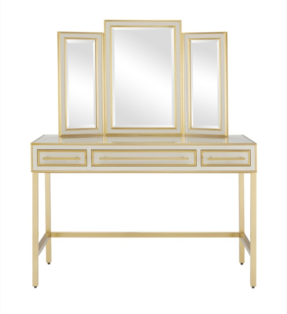The Arden Vanity and Mirror by Currey & Company