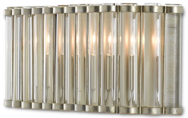 The Currey & Company Warwick Wall Sconce was designed by Bunny Williams