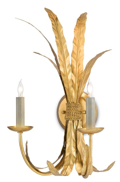 The Currey & Company Bette Wall Sconce was designed by Bunny Williams