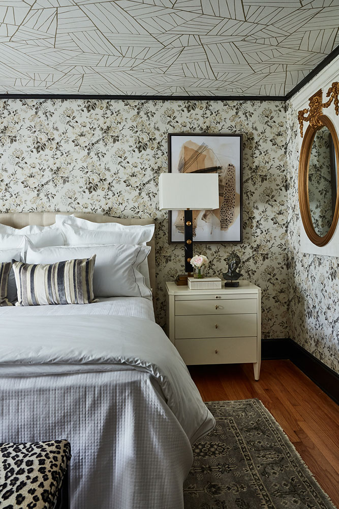 The bedroom designed by Christy Davis.
