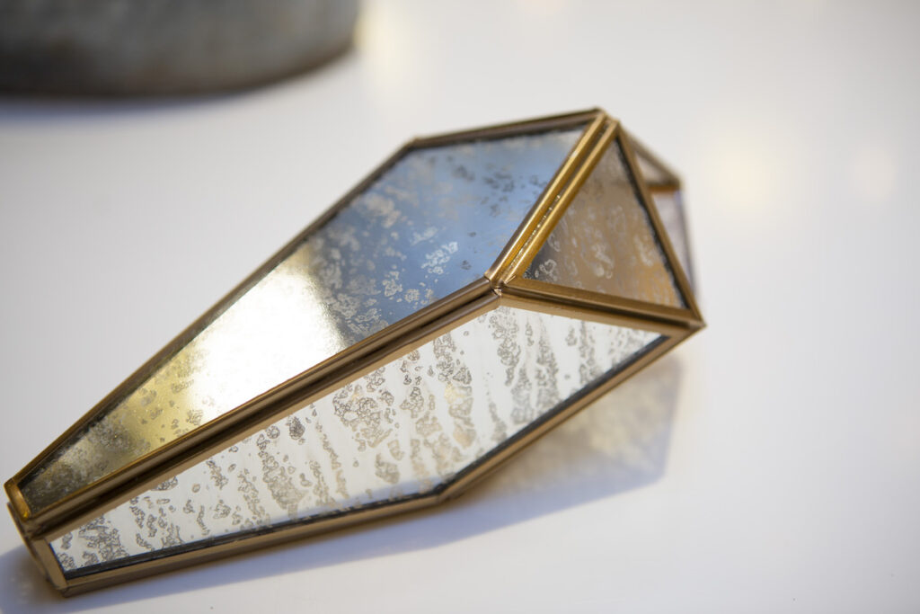 Shade for Glace – a beauty shot of a mirrored pendant for a multi-drop