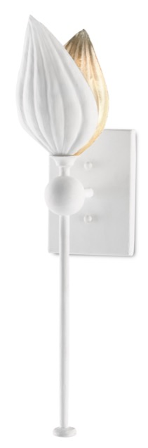 The Currey & Company Peace Lily Wall Sconce
