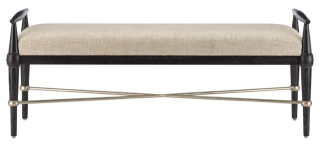 The Currey & Company Perrin Natural Bench