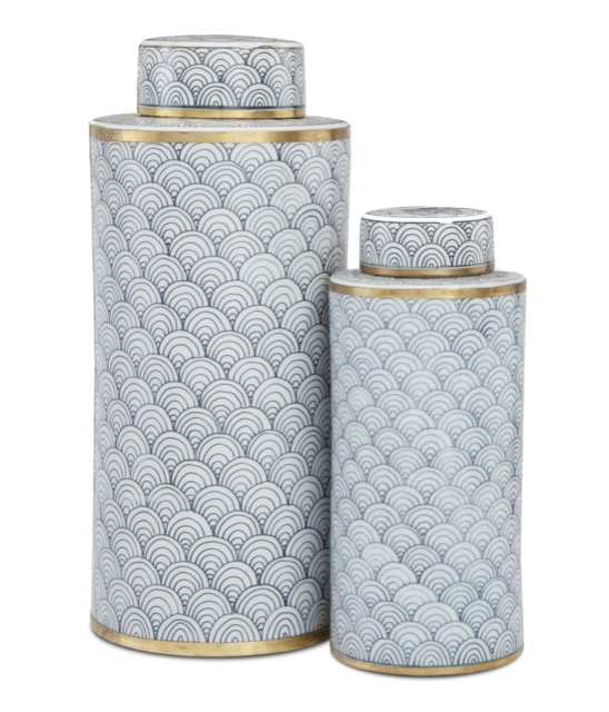 Jalousie Tea Canister Set by Currey & Company