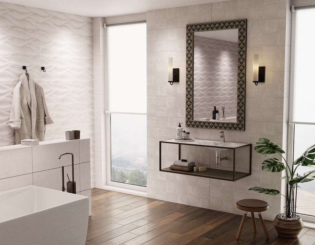 The Brindisi Bronze Wall Sconce in our Bagno Collection.