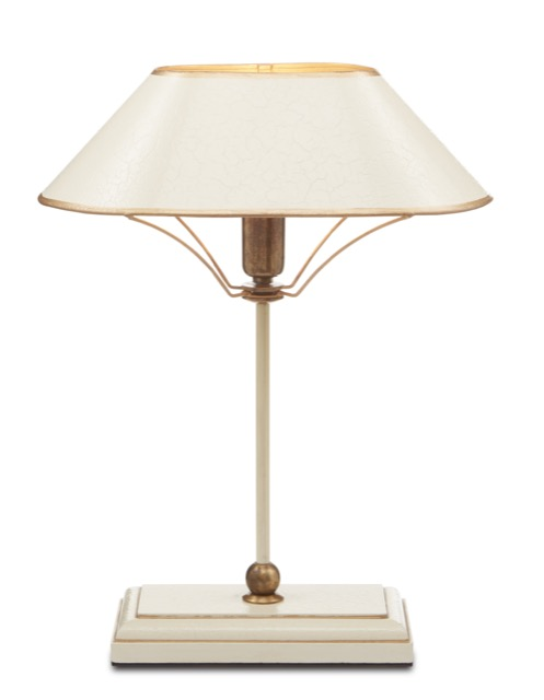The Currey & Company Daphne Table Lamp is made of metal in an ivory finish.