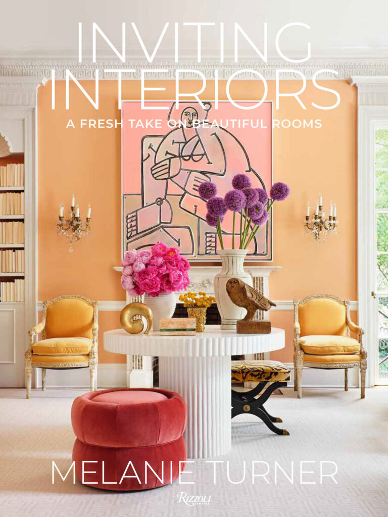 The cover of Melanie Turner's new book Inviting Interiors. Image credit: Mali Azima; cover design America Martin.