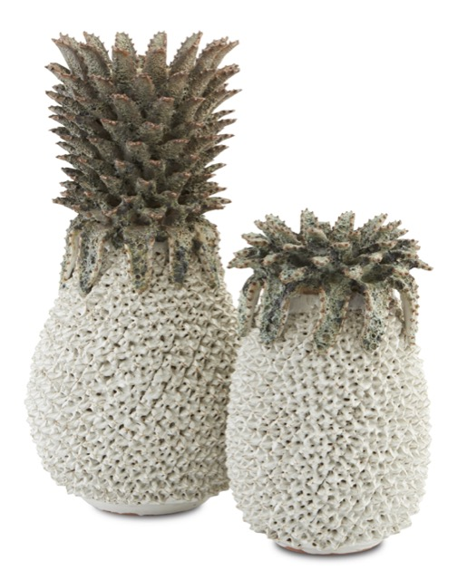 The Currey & Company Waikiki Beach Pineapples are among our new summer products