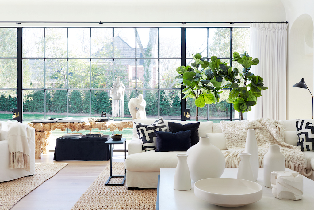 """A luminous living room from the chapter in Melanie's book titled """"Refined Simplicity."""" Image credit: Mali Azima."""