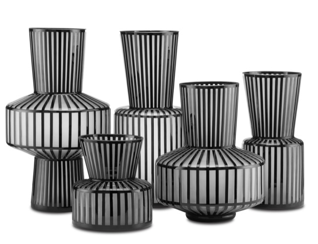 Rayures Vases by Currey & Company