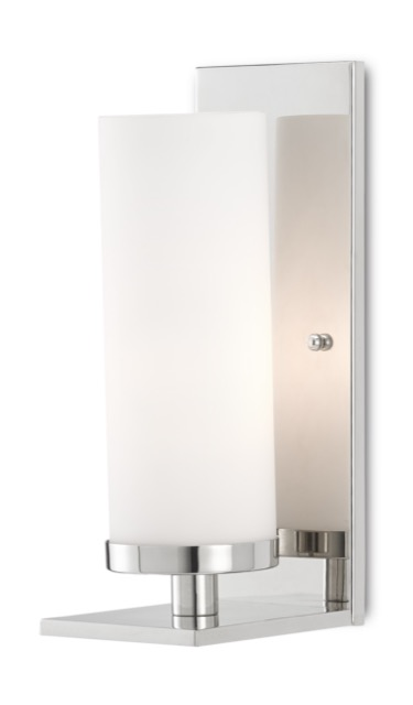 Our Bournemouth Nickel Wall Sconce is in our new Bagno Collection.