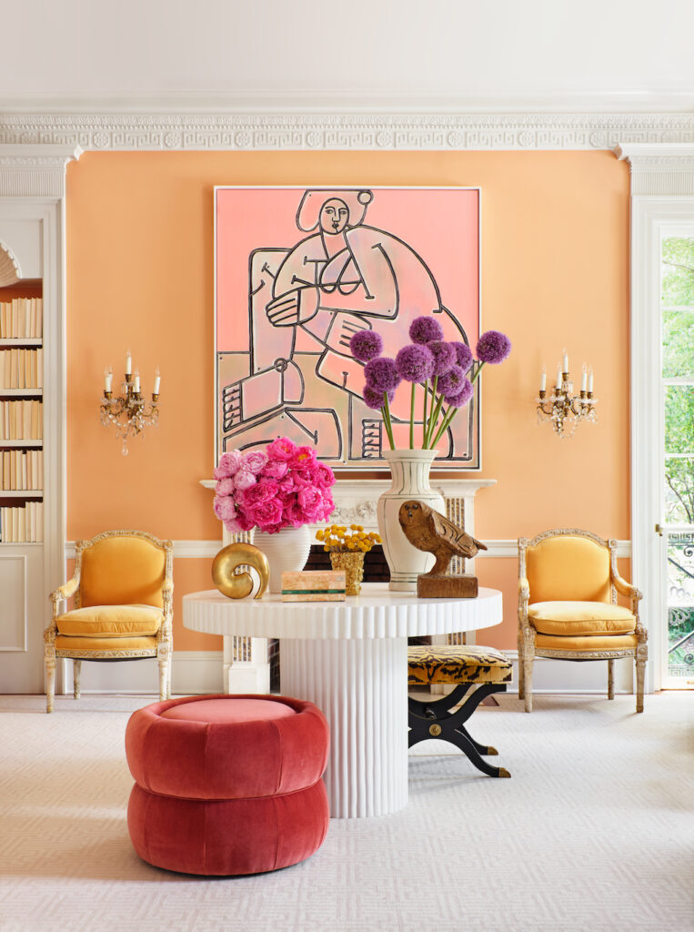"""The chapter in Inviting Interiors in which this beautiful living room is featured is titled """"A Colorful Life."""" Image credit: Mali Azima."""