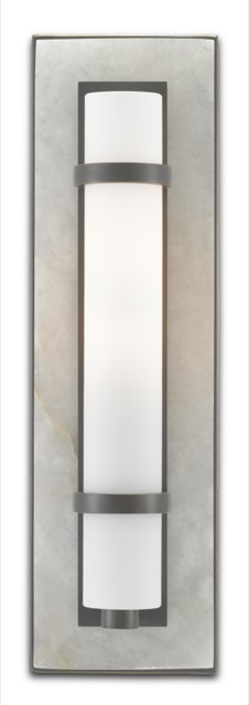 The Bruneau Bronze Wall Sconce by Currey & Company is new this summer.