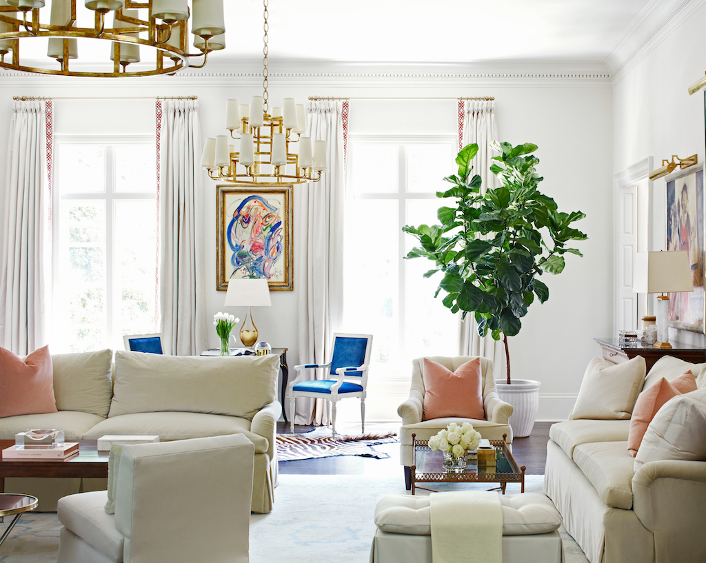 """""""The Art of Living"""" is the chapter title in which this elegant living room is featured. Image credit: Mali Azima."""