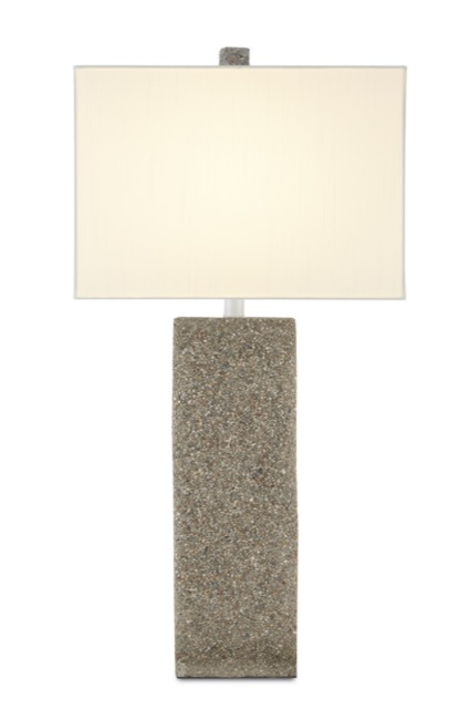 The Ramsgate Table Lamp by Currey & Company is made of concrete.