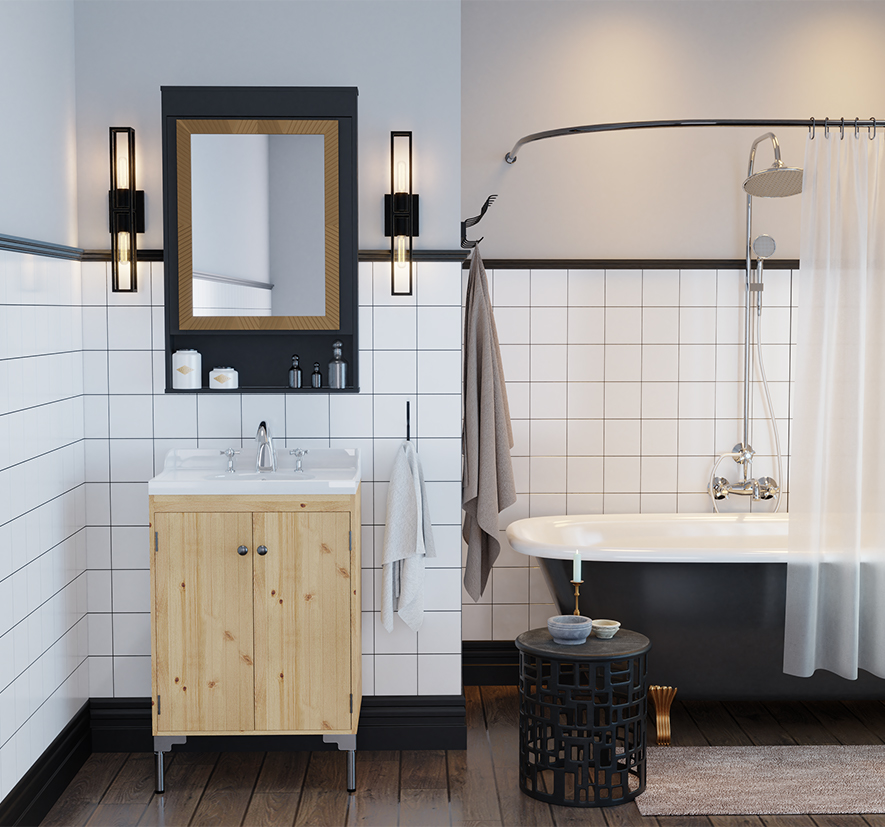 The Bergen Bronze Wall Sconce in our Bagno Collection.