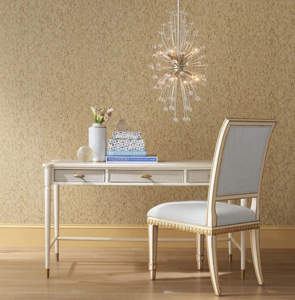 The Aster Desk and Chelsea Mist Chair, perfect for the home office.