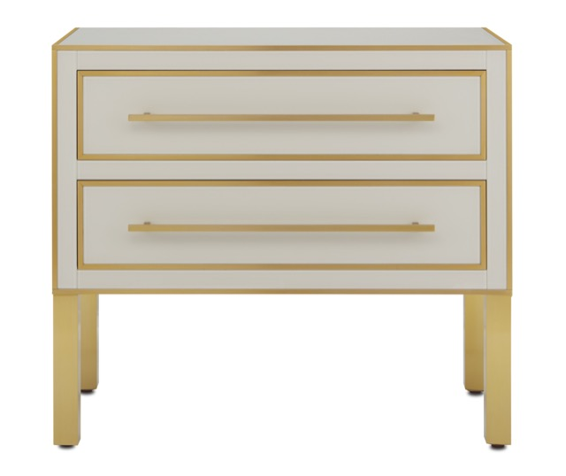 The Currey & Company Arden Ivory Chest is one of our new pale products