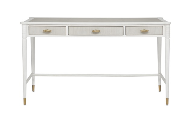 The Aster Desk by Currey & Company is a shoe-in for furnishing the home office.