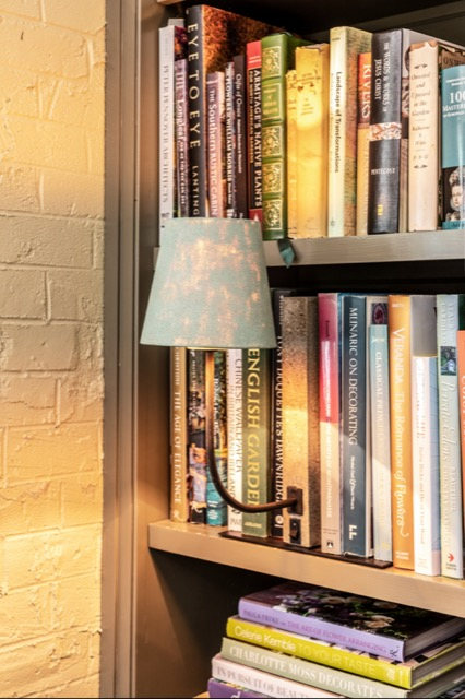 The Oldknow Bookcase Lamp is a studious addition to Brierfield Farm.