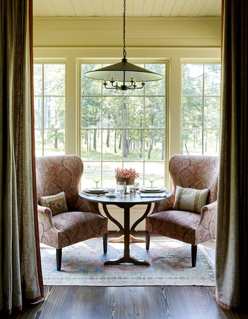 The Brussels Pendant is perfect for this breakfast nook.
