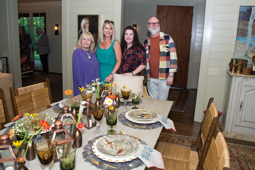 Members of the Currey & Company Marketing/Public Relations team with our Vice President/Creative Director at the opening event for the Flower Showhouse.
