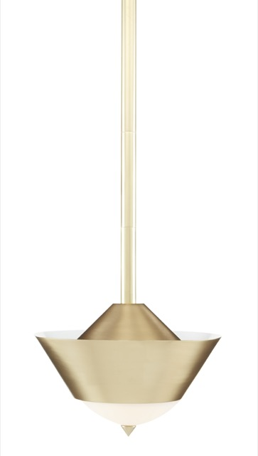 The Pepys Brass Pendant by Currey & Company fits perfectly in our going for the gold category.