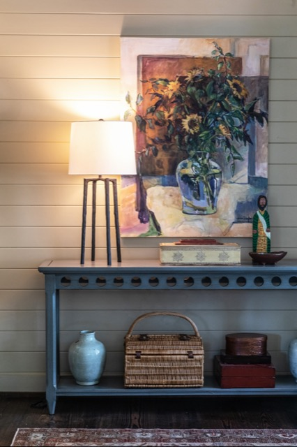 The Rowan Black Table Lamp is another perfect choice for the farmhouse style vibe.