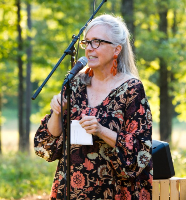Margot Shaw welcomes everyone to Briarfield during the opening event. Image courtesy Flower and Dee Moore Photography.