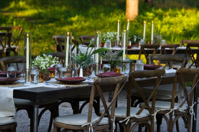Flowers are ever-present in Margot's life, as is illustrated by the table settings during the opening event for Flower Showhouse. Image courtesy Flower and Dee Moore Photography.